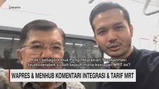 Wapres & Menhub Komentari Integrasi & Tarif MRT