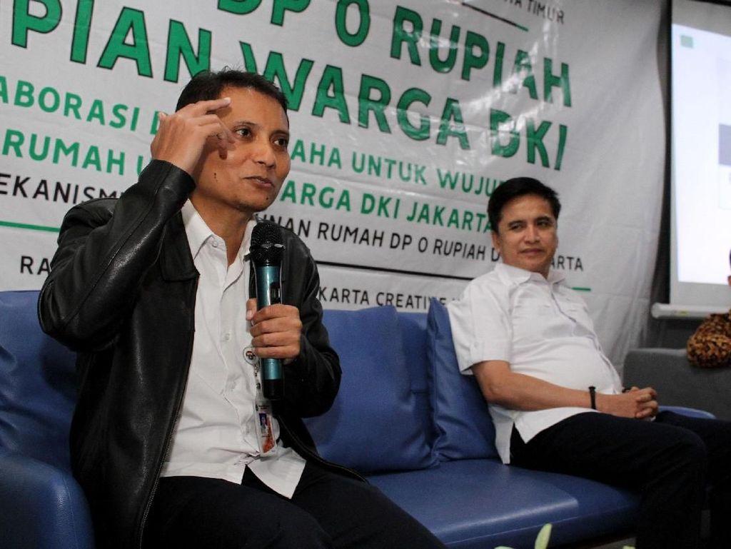 Diskusi itu digelar di Jakarta, Rabu (20/2/2019) yang secara keseluruhan juga mengulas tentang mekanisme pembangunan rumah DP 0 Rupiah DKI Jakarta. Foto: dok. Hipmi Jaya