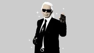 INFOGRAFIS: Gaya Ikonik Karl Lagerfeld