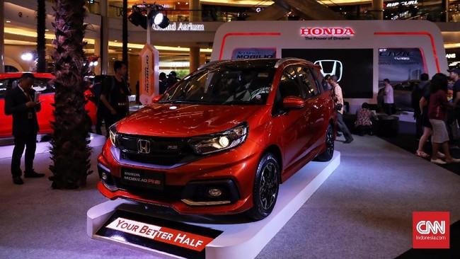 PT Honda Prospect Motor (HPM) meluncurkan model terbaru new Honda Mobilio mulai Rp194 juta sampai Rp248 juta di Jakarta, (21/2) (CNN Indonesia/Hesti Rika)