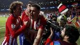 Total Jose Gimenez sudah mencetak delapan gol untuk Atletico Madrid di semua kompetisi, termasuk dengan golnya ke gawang Juventus yang membawa Los Rojiblancos unggul 1-0 di laga tersebut. (REUTERS/Sergio Perez)