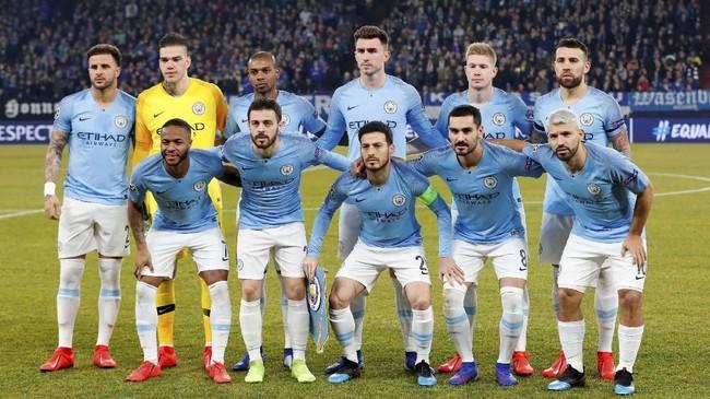 Manchester City bertandang ke Veltins Arena untuk menghadapi Schalke 04 pada leg pertama 16 besar Liga Champions, Rabu (20/2) malam waktu setempat. (Reuters/Matthew Childs)