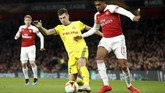 Arsenal menjamu BATE di Stadion Emirates pada leg kedua 32 besar Liga Europa, Kamis (21/2) waktu setempat. (Reuters/John Sibley)