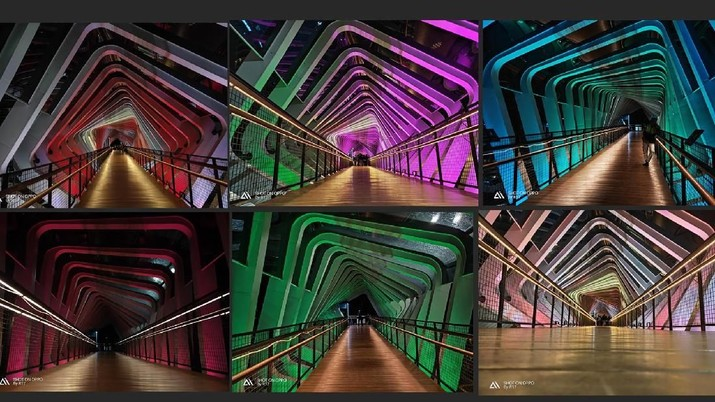 Warna-Warni Jembatan Penyeberangan GBK
