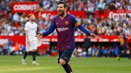 Hattrick Lionel Messi Bantu Barcelona Kalahkan Sevilla