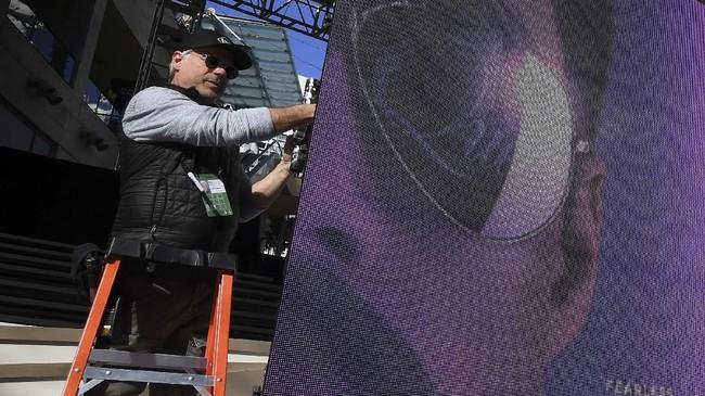 Beberapa waktu lalu desainer produksi Oscar 2019 David Kornis membocorkan akan ada 40 ribu mawar asli di atas panggung. (Mark RALSTON / AFP)