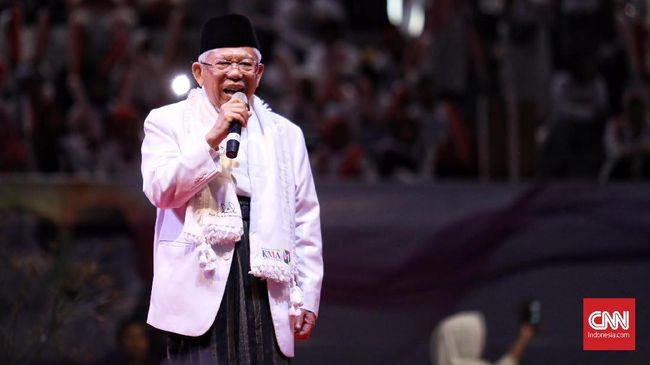 Ma'ruf Amin Klaim Prabowo-Sandi Sudah Kalah di Jawa Barat