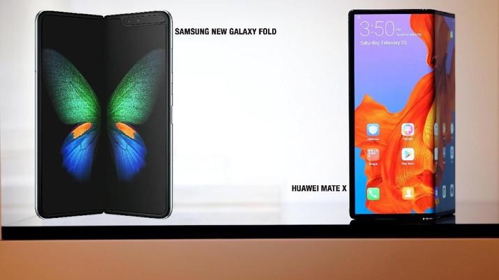 Mengintip Ponsel Lipat: Samsung Galaxy Fold Vs Huawei Mate X
