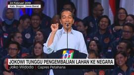 Jokowi Tunggu Pengembalian Lahan ke Negara