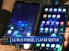 LG Rilis Ponsel 2 Layar Sentuh