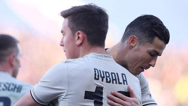 Ronaldo Disebut Kesal Usai Dybala Cetak Gol untuk Juventus