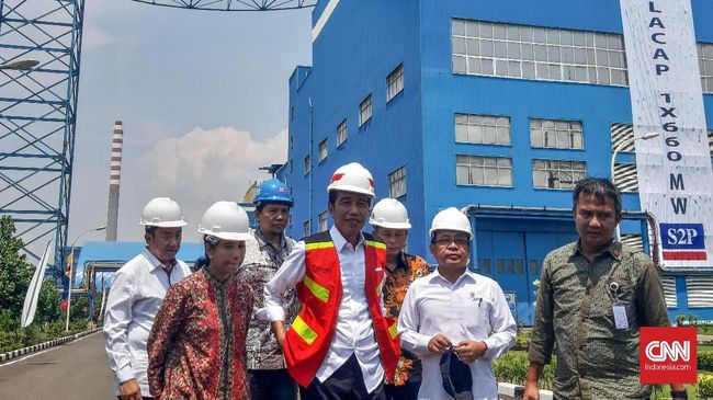 Jokowi Resmikan PLTU Cilacap Ekspansi 1