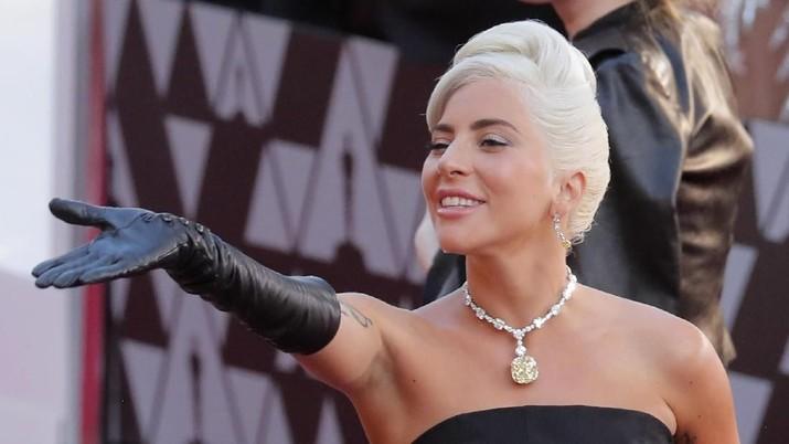 Lady Gaga hadir pada Oscar Award 2019. (REUTERS / Lucas Jackson)