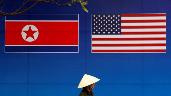 Kota Hanoi di Vietnam terpilih sebagai lokasi pertemuan kedua Presiden Amerika Serikat (AS) Donald Trump dan Pemimpin Tertinggi Korea Utara Kim Jong-un. (REUTERS/Kim Kyung-Hoon)