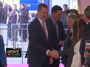 Raja & Perdana Menteri Spanyol Kunjungi Pameran MWC 2019