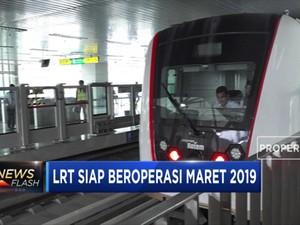 LRT Velodrome Siap Beroperasi Maret 2019