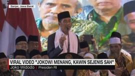 Tanggapan Jokowi Soal  'Jokowi Menang, Kawin Sejenis Sah'