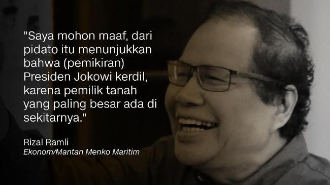 Rizal Ramli, Ekonom/Mantan Menko Maritim.