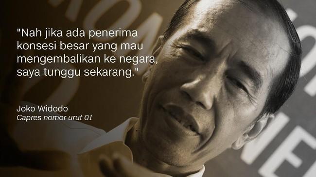Joko Widodo, Capres nomor urut 01.
