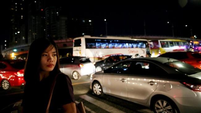 Menurut hasil survei pemerintah Jepang pada 2012, kerugian akibat kemacetan di Filipina mencapai US$46,1 juta. (REUTERS/Eloisa Lopez).