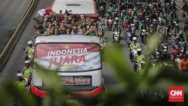 FOTO: Arak-arakan Juara Timnas Indonesia U-22