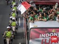Arak-arakan Timnas Indonesia U-22 Sepi Suporter