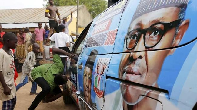 Muhammadu menjabat sebagai presiden pada 2015, setelah mengalahkan Goodluck Jonathan yang merupakan petahana pada saat itu. (REUTERS/Nyancho NwaNri)