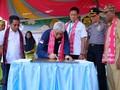 Pejabat ESDM Resmikan Tribun Sepak Bola di Halmahera Timur