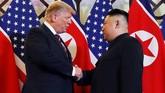 Pertemuan kali ini masih membahas soal denuklirisasi dan pencabutan sanksi ekonomi terhadap Korea Utara. (REUTERS/Leah Millis)