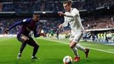 Gareth Bale dimasukkan ke lapangan pada menit ke-68 untuk menggantikan Lucas Vazquez. (REUTERS/Juan Medina)