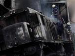 Kebakaran Kereta di Kairo Picu Puluhan Orang Tewas