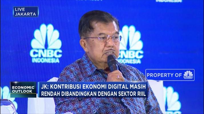 Ditengah maraknya pertumbuhan industri 4.0, Wakil Presiden Jusuf Kalla mengingatkan untuk tidak melupakan sektor riil.