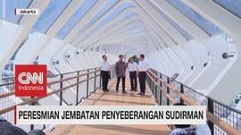 Anies Resmikan 'JPO Kekinian' Sudirman