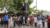 Muhammadu Buhari yang merupakan petahana kembali menang dalam pemilihan presiden Nigeria. (REUTERS/Nyancho NwaNri)