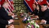 Trump menyatakan pertemuannya dengan Kim Jong-un hari ini diakhiri dengan suasana