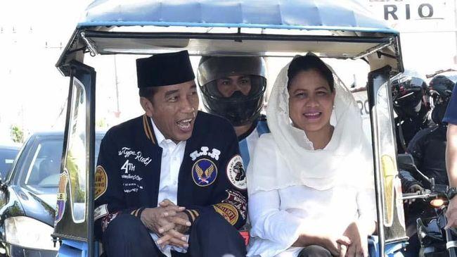 Iriana Ajak Istri Pensiunan TNI-Polri Pakai Baju Putih ke TPS