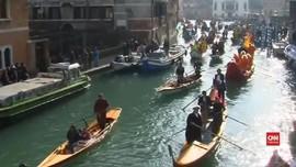 VIDEO: Venesia Terapkan 'Tiket Masuk' untuk Wisatawan