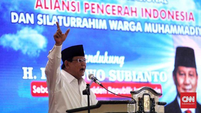 Merasa Ada Arus Kuat, Prabowo Yakin Survei Bayaran Bisa Gagal