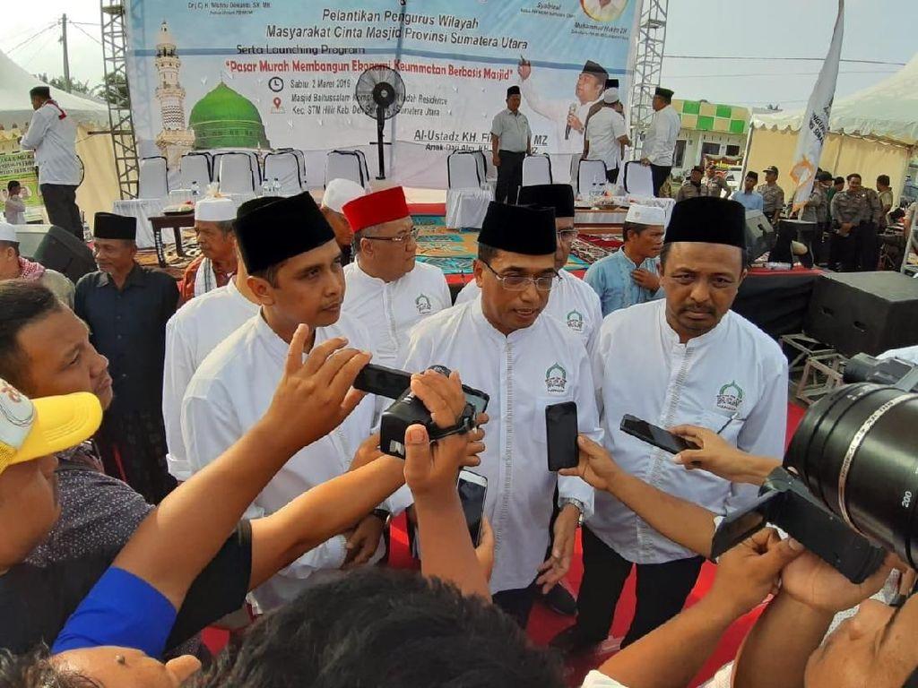 Ketua Dewan Pembina MCM, Budi Karya Sumadi hadir dalam pengukuhan MCM Sumut yang diketuai Safrizal di Masjid Baitussalam, Komplek Granit Indah Residence, Kecamatan STM Hilir, Deli Serdang, Sumut, Sabtu (2/3/2019). Istimewa.