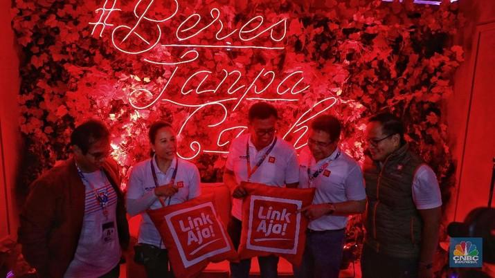 Peluncuran produk pembayaran (payment) Himpunan Bank Milik Negara (Himbara) LinkAja tertunda.