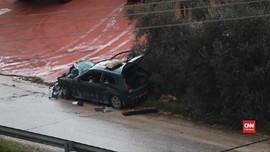 VIDEO: Tabrak Tentara Israel, Warga Palestina Ditembak Mati