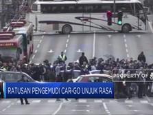 Ratusan Pengemudi Car-Go Unjuk Rasa
