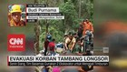 Evakuasi Korban Tambang Emas Ilegal Longsor
