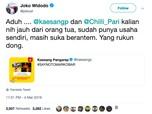 Saat Jokowi, Kaesang, dan Gibran Berbalas Cuitan di Twitter