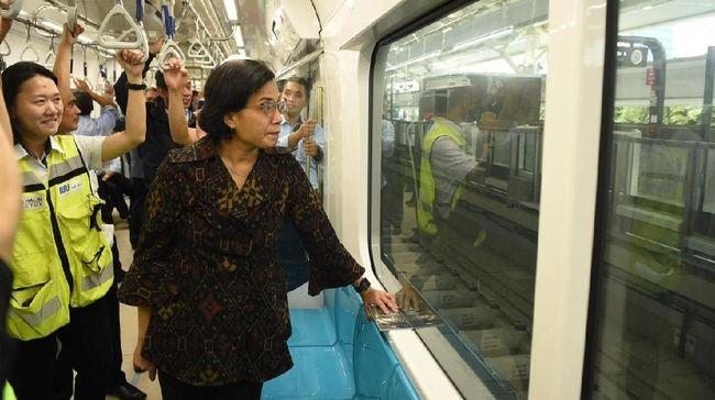Sri Mulyani Bawa Staf Kemenkeu Jajal MRT HI-Lebak Bulus