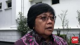 Mantan Menteri KLHK Siti Nurbaya dari NasDem Tiba di Istana