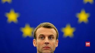 VIDEO: Lewat Kolom, Macron Sampaikan Visi Uni Eropa Baru