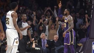 LeBron James Menangis Lewati Rekor Poin Michael Jordan