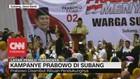 Kampanye Prabowo di Subang, Disambut Ribuan Pendukungnya