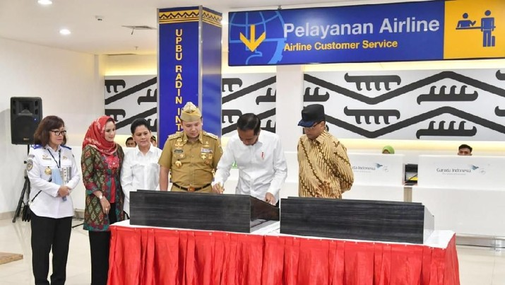 Jokowi Resmikan Bandara Radin Inten II